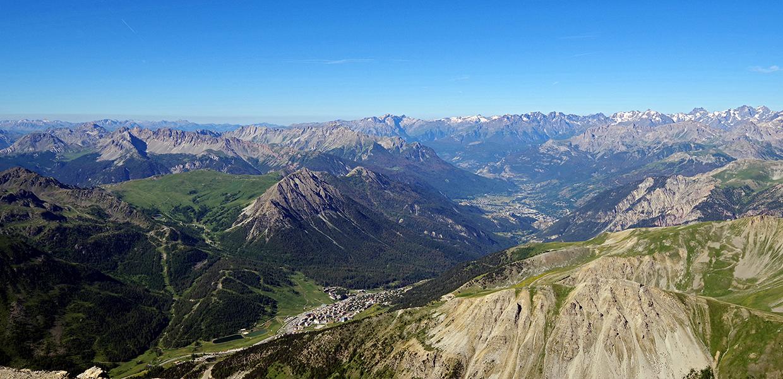 Montgenèvre vue depuis le sommet du chaberton © Mairie de Montgenèvre