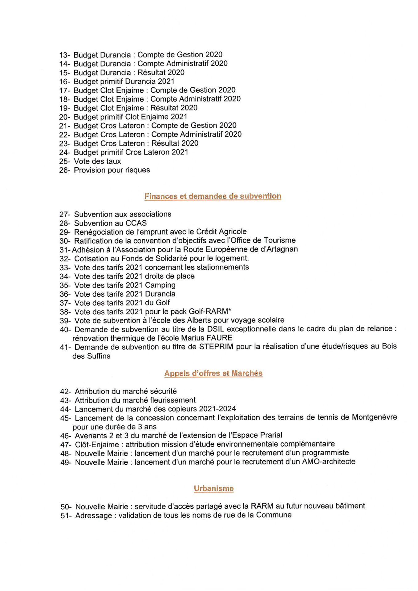 Convocation Conseil Municipal du 18 mars 2021 - Page 2 © Mairie de Montgenèvre