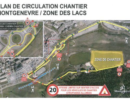 Plan de circulation – Chantier du Lac du Moulin