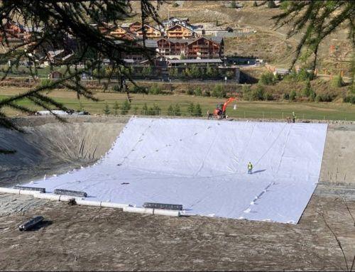 Installation géomembrane – Lac Montgenèvre