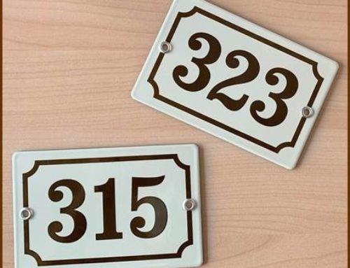 Plaques de numéro à récupérer